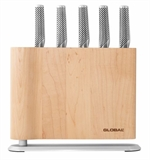 Global Uku 6 Piece Knife Block Set Maple-global-What's Cooking Online Store