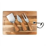 Peer Sorensen Rectangular Cheese Serving Board with 3 Knives Acacia-peer-sorensen-What's Cooking Online Store