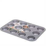 Baker & Salt Non-Stick 12 Cup Muffin Tin-cake-tins-and-baking-trays-What's Cooking Online Store