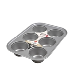 Baker & Salt Non-Stick 6 Cup Jumbo Muffin Tin-cake-tins-and-baking-trays-What's Cooking Online Store