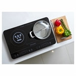 Westinghouse Twin Induction Cooker 2400W Black IC02K-specialty-What's Cooking Online Store