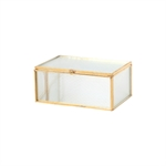 Pure Living Kilby Gold & Ribbed Glass Jewel Box Small 15 cm-decorator-items-What's Cooking Online Store