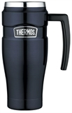 Thermos Vacuum Travel Mug Stainless Steel 470m Blue-thermos-What's Cooking