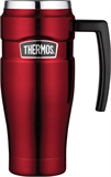 Thermos Vacuum Travel Mug Stainless Steel 470m Red-thermos-What's Cooking
