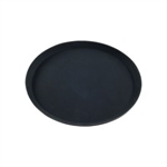 Chef Inox Round Tray Non Slip 35cm Black-trays-What's Cooking