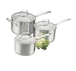 Scanpan Impact Cook Set 3 Piece 16cm, 18cm, and 20cm Saucepans-cookware-What's Cooking