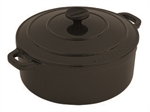 Chasseur French Oven Round 26cm 5.2 Litres Matt Black -cast-iron--What's Cooking