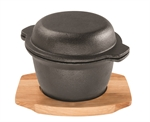 Pyrocast Garlic Pot With Maple Tray-cast-iron--What's Cooking