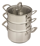 Pyrolux Steamer Set 3 Tier 18cm Stainless Steel -cookware-specialty-What's Cooking Online Store