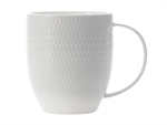 Maxwell & Williams White Basics Diamond Coupe Mug 370 ml-dining-What's Cooking