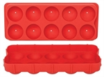 D.Line Silicone Round Ice Cube Tray Red-appetito-What's Cooking Online Store