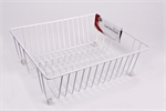 D.Line Dish Drainer Plastic Covered Wire Small White -utility-storage-What's Cooking Online Store