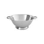 Chef Inox Colander Stainless Steel 29cm x 10cm 5 Litre-strainers-and-colanders-What's Cooking