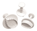 MONDO Rose Leaf Plunger Cutter Set 3 Piece-cake-decorating-What's Cooking