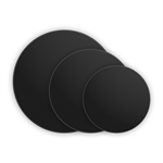 "MONDO Cake Board Round  Black 8"" 20cm-cake-decorating-What's Cooking"