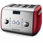 KitchenAid Artisan Toaster 4 Slice Empire Red-toasters-and-kettles-What's Cooking