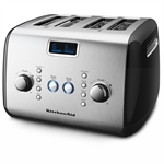 KitchenAid Artisan Toaster 4 Slice Onyx Black-toasters-and-kettles-What's Cooking