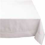 Hemstitch Tablecloth White 150 x 230 cm-kitchen-textiles-What's Cooking