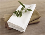 Hemstitch Napkin White 45 cm-kitchen-textiles-What's Cooking