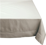Hemstitch Tablecloth Grey 150 x 300 cm-kitchen-textiles-What's Cooking
