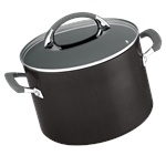 Anolon Endurance Stockpot 24cm 7.6 Litre with Bonus Pasta Cooker-casseroles-and-stockpots-What's Cooking Online Store