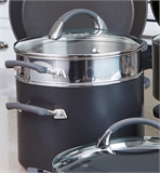 Anolon Endurance Stockpot 24cm 7.6 Litre with Bonus Pasta Cooker-casseroles-and-stockpots-What's Cooking