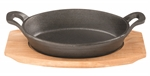 Pyrolux Pyrocast Oval Gratin With Maple Tray 17x12cm -cast-iron--What's Cooking