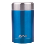 Oasis Insulated Food Flask 450ml Aqua-water-and-sports-bottles-What's Cooking