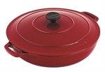 Le Chasseur Round Casserole 30cm 2.5 Litre Federation Red-le-chasseur-What's Cooking