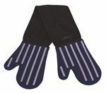 Avanti Silicone Double Oven Mitts Silicon and Cotton Butcher Stripe Blue-oven-mits-What's Cooking