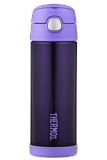 Thermos FUNTAINER Insulated Drink Bottle Purple 470ml-thermos-What's Cooking