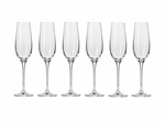 Krosno Harmony Champagne Flute 180ML 6pc Gift Boxed-maxwell-and-williams--What's Cooking