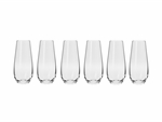 Krosno Harmony Stemless Flute 230ML 6 Gift Boxed-maxwell-and-williams--What's Cooking