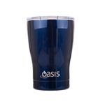 Oasis Insulated Travel Coffee Cup with Lid - 340ml Navy-thermos-and-travel-cups-What's Cooking