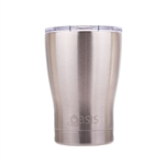 Oasis Insulated Travel Coffee Cup with Lid - 340ml Silver-thermos-and-travel-cups-What's Cooking