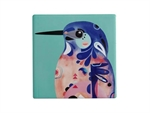 Maxwell & Williams Pete Cromer Ceramic Square Tile Coaster 9.5cm Azure Kingfisher-maxwell-and-williams-What's Cooking Online Store