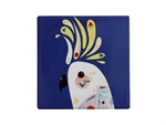 Maxwell & Williams Pete Cromer Ceramic Square Tile Coaster 9.5cm Cockatoo-maxwell-and-williams-What's Cooking Online Store