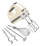 KitchenAid Hand Mixer 9 Speed Almond Cream-hand-mixers-What's Cooking