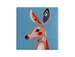 Maxwell & Williams Pete Cromer Ceramic Square Tile Coaster 9.5cm Kangaroo-maxwell-and-williams-What's Cooking Online Store