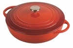 Pyrolux Pyrochef Chef Pan 28cm 4 Litre Red-cast-iron--What's Cooking