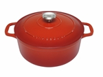 Le Chasseur Fround French Oven 24cm 4 Litres Inferno Red-casserole-What's Cooking