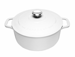 Le Chasseur Fround French Oven 26cm 5 Litres White-casserole-What's Cooking