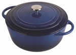 Pyrolux Pyrochef Casserole Blue 28cm - 6 Litre-cast-iron--What's Cooking