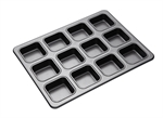 Bakemaster 12 Cup SQ Brownie Pan 34 X 26 cm-cake-tins-and-baking-trays-What's Cooking