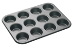 Bakemaster 12 Cup Muffin Pan 35 X 27 cm-bakemaster-What's Cooking
