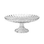 Pure Homewares Farthing Cut Glass Ribbed Pedestal Plate-pure-living-What's Cooking