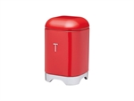 Kitchenkraft Lovello Tea Canister 11x18cm 1.5L Red-food-storage-What's Cooking Online Store