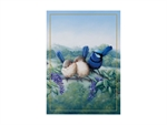 Maxwell & Williams Birds of Australia 10yr Anniversary Tea Towel 50x70cm Splendid Fairy Wren-tea-towels-What's Cooking
