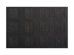 Maxwell & Williams Placemat 45x30cm Black Squares-placemats-and-napkins-What's Cooking