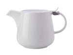 Maxwell & Williams White Basics Teapot with Infuser 1.2L White Gift Boxed-tea-makers-and-pots-What's Cooking Online Store